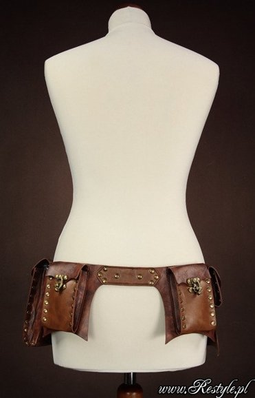"steampunk ""POCKET BELT"" brown unisex"