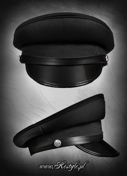 Military officer Cap BLACK