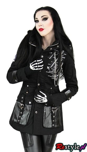PUNK RAVE Y-222 fall winter Military gothic with buckles jacket