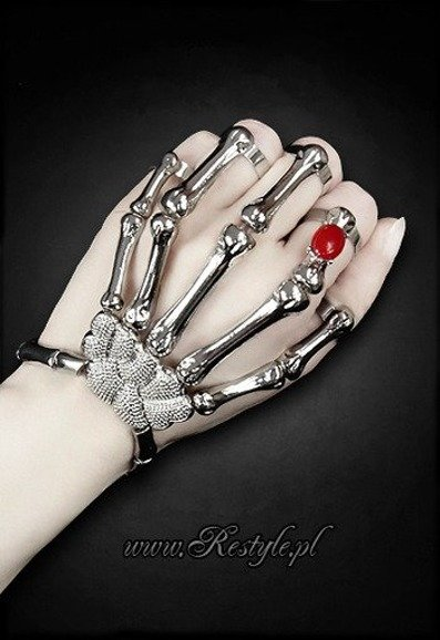 skeleton bracelet for whole hand bones SILVER