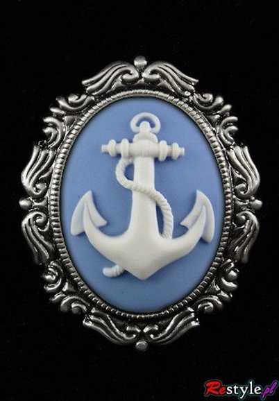 Cameo brooch and pendant BLUE ANCHOR