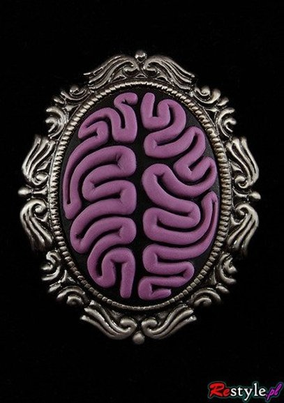 Cameo brooch and pendant PURPLE BRAIN