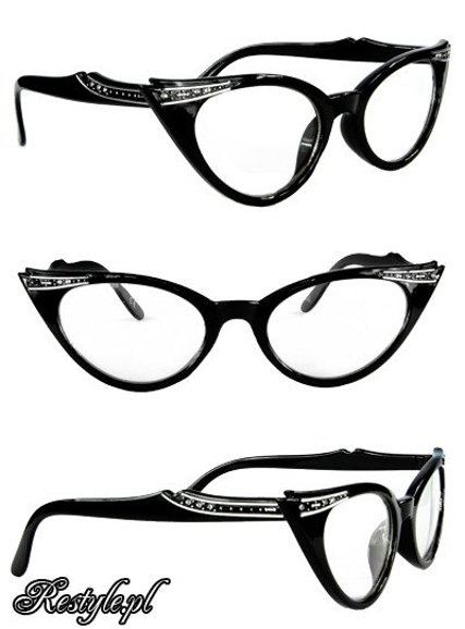 Cat eye glasses - Black & Clear