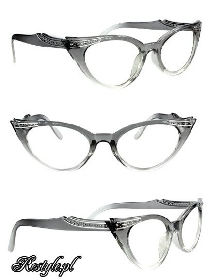 Cat eye glasses - Gray & Clear