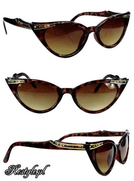 Cat eye sunglasses - Brown Leopard