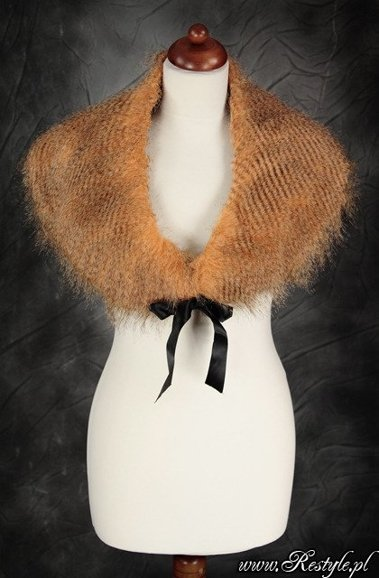 Fake Fur Stole for evening, retro, gothic