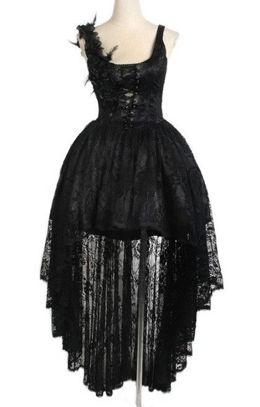 Punk Rave Q-174 asymmetric lace dress rock princess