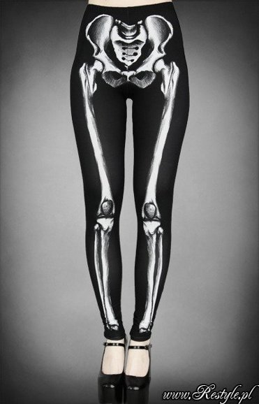 Skeleton leggings bones trousers horror pants