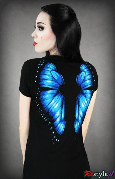 T-shirt BLUE Butterfly wings on the back