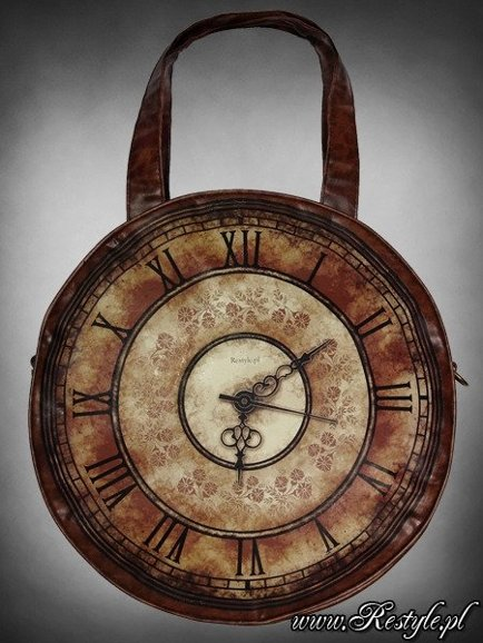 "Watch bag "" VICTORIAN CLOCK"" round steampunk handbag A4"