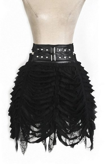 punk rave Q-169 deathrock ripped gothic mini skirt