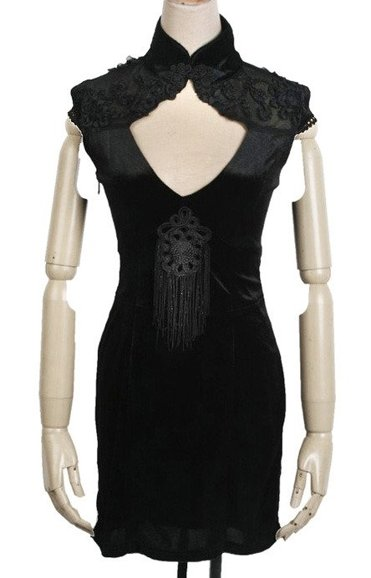 punk rave Q-179 japanese gothic dress, bondings on the back