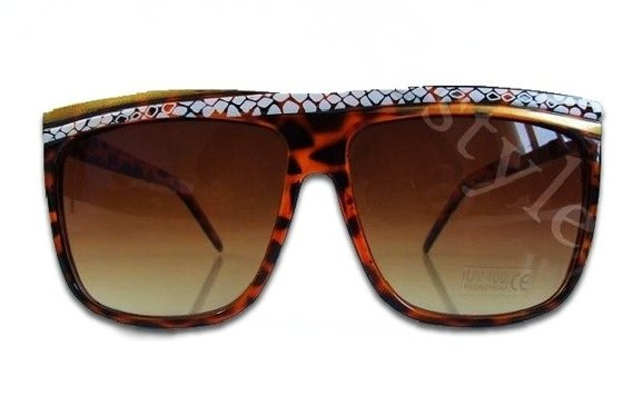 LEOPARD PATTERN BIG wayfarer JUNO sunglasses